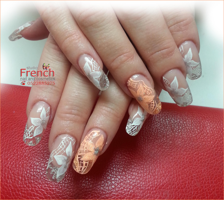 Фото дизайн ногтей лунный френч